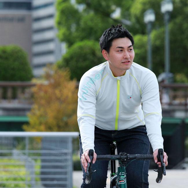 サイクルジャージ、KARUISHI,、メンズ、秋冬、長袖、暖かい、ダウンヒル、ロードバイク、サイクルウェア