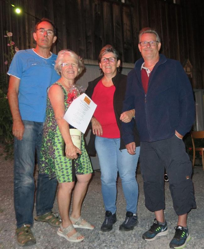 Das Gärbifäscht-Kleeblatt Franz, Catherine, Nicole und Mani (Foto: Daniel Fischli)