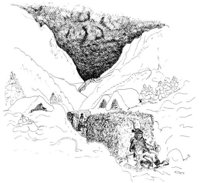 Zeichnung aus: Dr ghülpet Bott, Sulzbodäziitg, 1977, S. 9