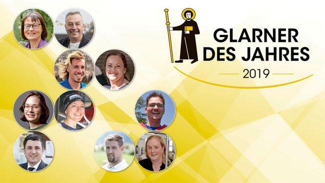 """Auftaktbild der """"Glarner Nachrichten/Südostschweiz-Glarus"""" zur Leserbefragng """"Glarner des Jahres 2019"""""""