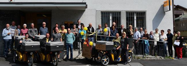 Ganze Völkerstämme kamen zum Abschied von Röbi Hauser (Foto: Jean Pierre Hauser)