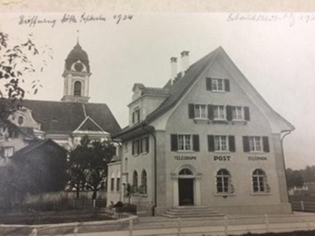 Historisches Bild: Post Näfels anno 1924 (Foto: Petra Hauser)