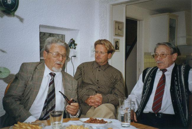 Hermann Schwitter, Sohn Fridolin Schwitter und Bruder Fritz Schwitter, langjähriger Dirigent der Harmoniemusik Näfels. (Foto: Fridolin Schwitter, Sohn)