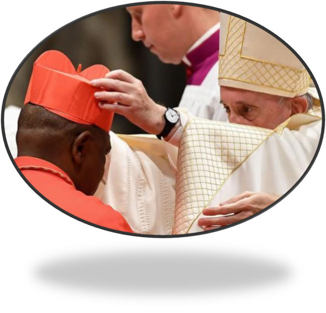 Feierliche Szene: Aufnahme ins Kardinalskollegium durch Papst Franziskus I. im Rom. Quelle:www.dw.com/de/amazonas-synode-herausforderung-f%C3%BCr-den-papst/a-50714735