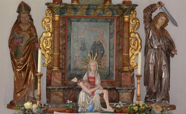 Fridolin und Ursus Altarbild  Wendelinskapelle Gellikon