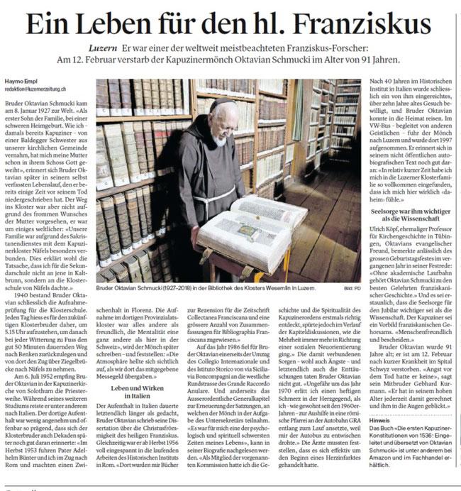 aus: Zuger Zeitung 16.2.2018