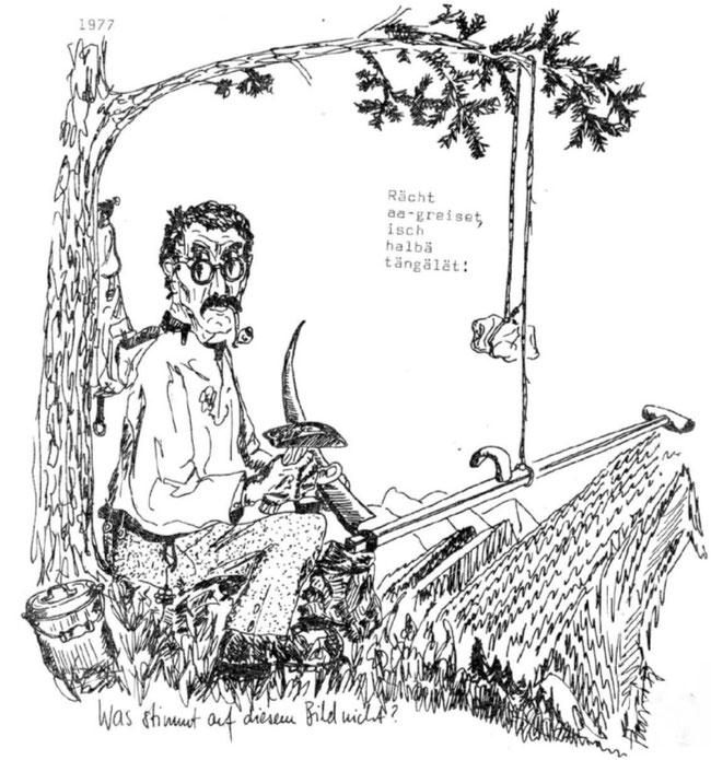 Zeichnung aus: Dr ghülpet Bott, Sulzbodäziitig 1977, S. 5
