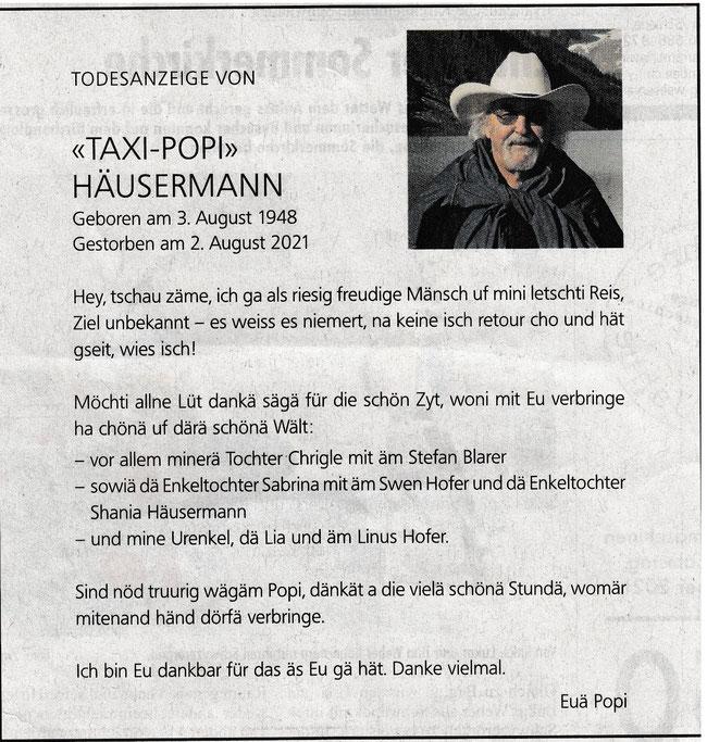 """aus: """"Fridolin"""", Schwanden, Nr. 33, 19. August 2021, Seite 3"""