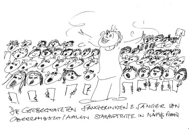 Die gottbegnadeten Sängerinnen und Sänger von Oberrombach/Aalen. Starauftritte in Näfels.
