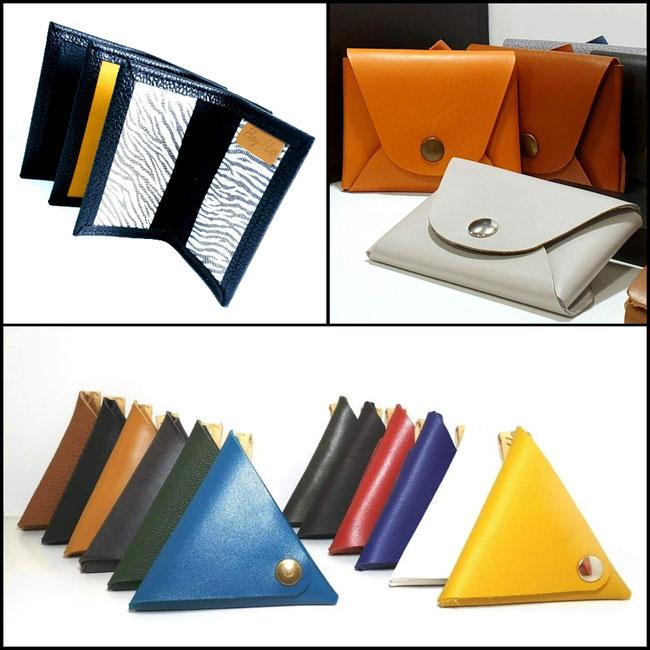 Porte-cartes-monnaie-cuir