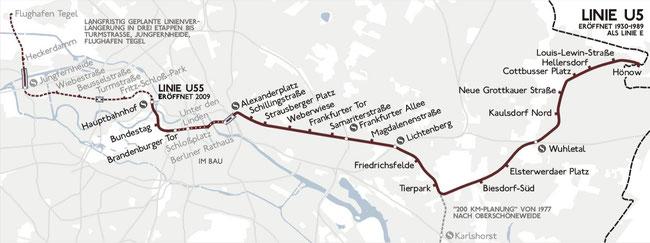 Karte der U5 aus dem Jahr 2005, CC 1.0 Sansculotte