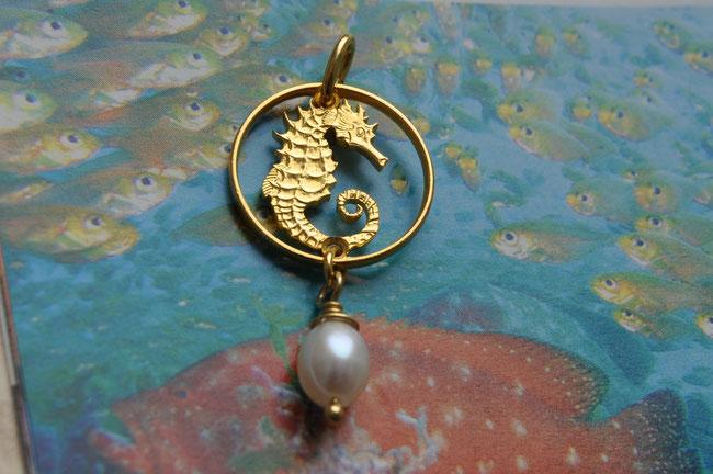 Münzsägewerk Katrin Thull | Singapur - Seepferdchen mit Perle