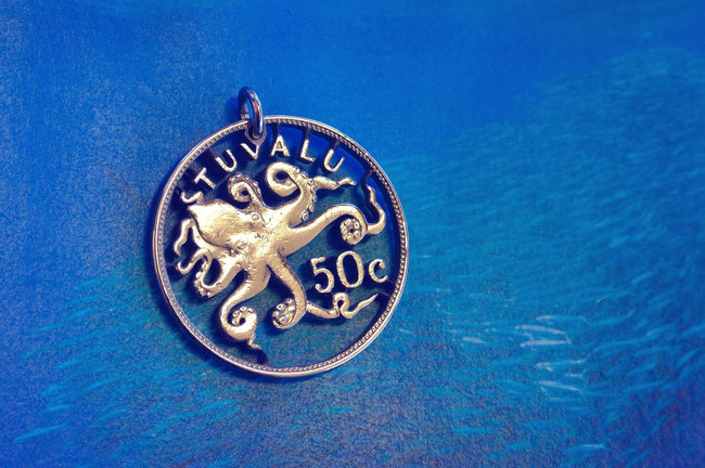 Münzsägewerk Katrin Thull   Tuvalu - Oktopus