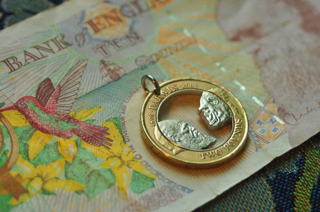 Münzsägewerk Katrin Thull | Großbritannien - Darwin und Affe