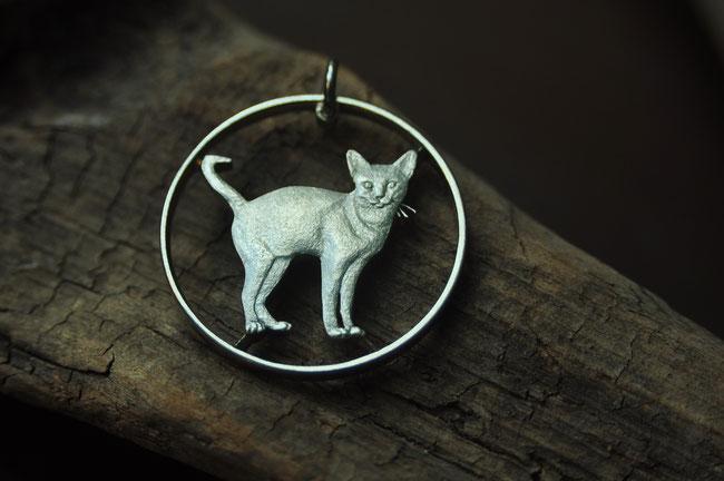 Münzsägewerk Katrin Thull | Großbritannien - Abessinische Katze