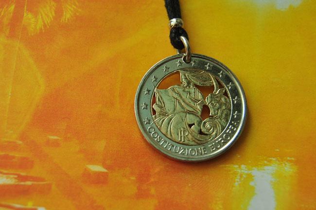Münzsägewerk Katrin Thull | Italien - Europa mit dem Stier
