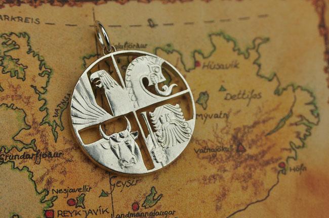 Münzsägewerk Katrin Thull | Island - Vier Gottheiten Silber