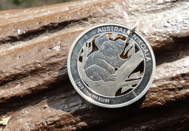 Münzsagewerk Katrin Thull | Australien - Koalabär Variante Silber