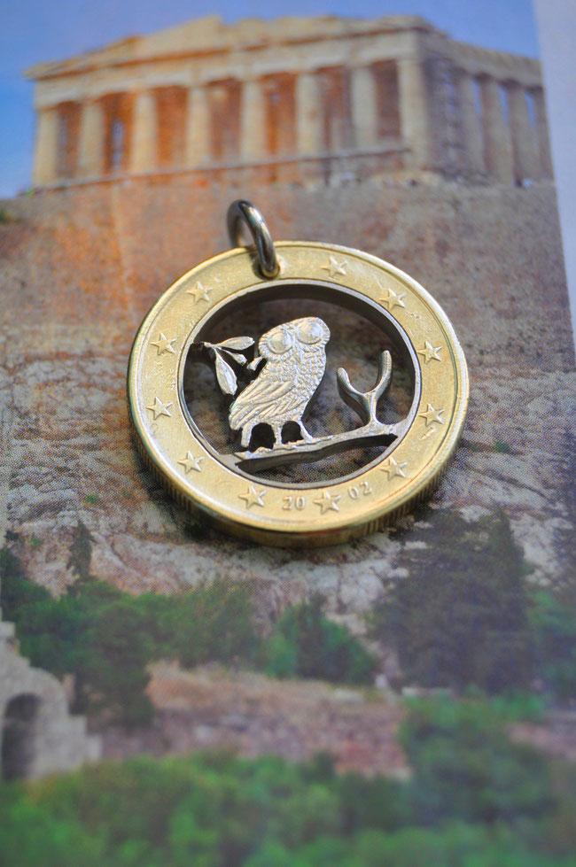 Münzsägewerk Katrin Thull | Griechenland - Eule
