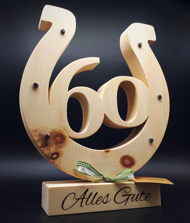 Geschenk zum 50 Geburtstag aus Zirben Holz