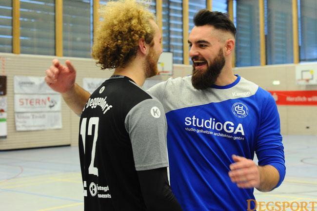 Mann des Tages: Jakob Stubhahn mit seinem Co-Trainer Fritz Helber