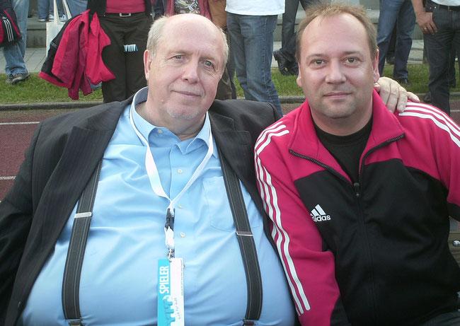 Rainer Callmund mit Harry Rindler