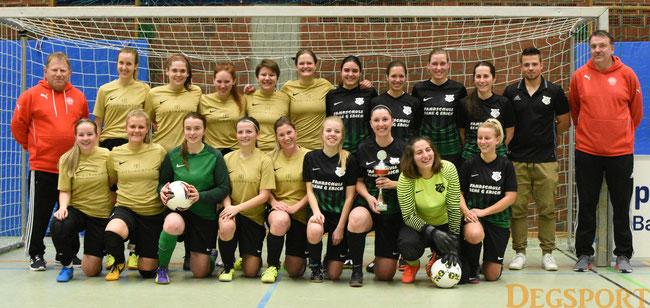 die Finalteams: FSV Landau und FC Aunkirchen