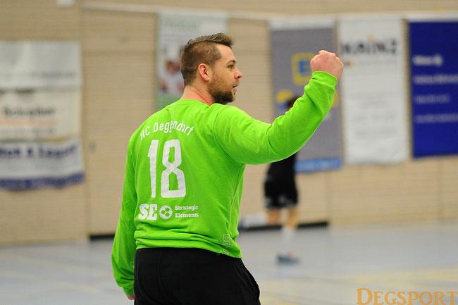 Archivfoto: Goalie Denis Detlaf war der gewohnt starke Rückhalt