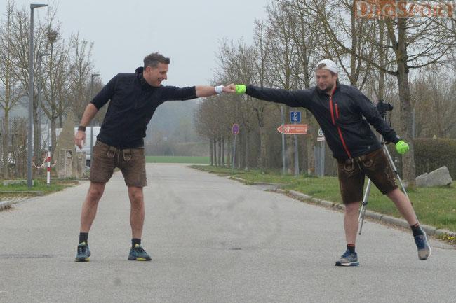Start zum Halbmarathon in Lederhose