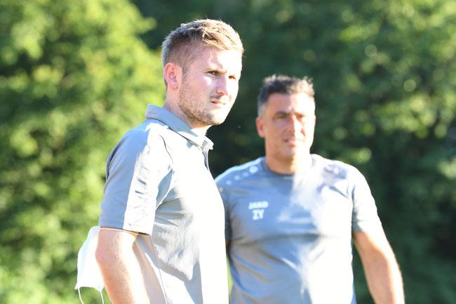 Die Trainer:  Benjamin Penzkofer und Zico Gwinner-Yalcin