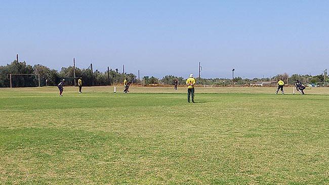 Action from Limassol Moufflons vs Sri-Lanka Lions game