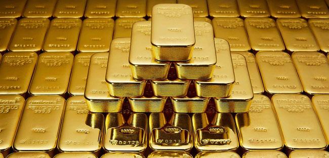 1kg Goldbarren. Bild: proaurum.ch