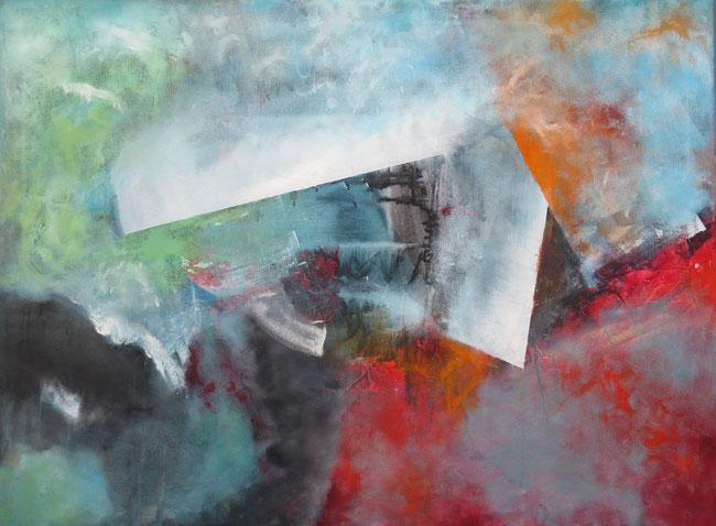 Von der Klarheit und dem Geheimnis (2017). Acryl auf Leinwand (2017). 80 cm x 60 cm. Als Originalbild erhältlich