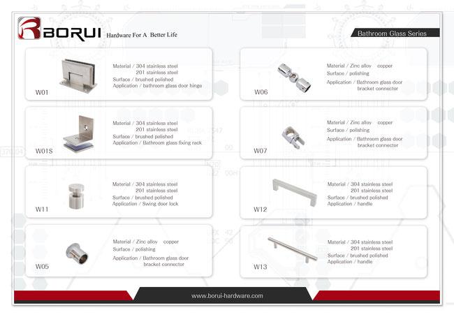 Catalog - BORUI Shower Door Parts
