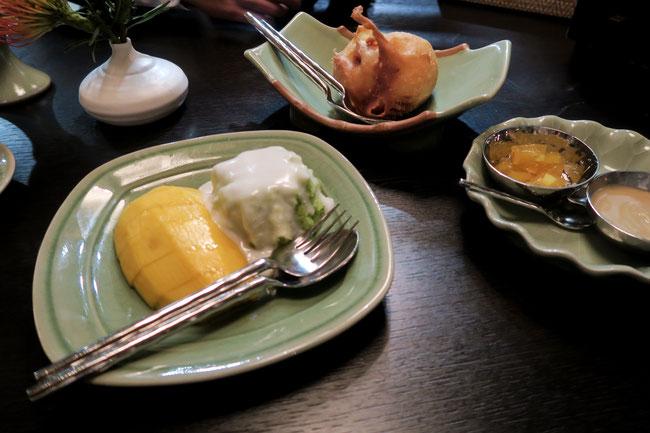 White Elephant Mariott Hotel in Zürich Switzerland thailändische Küche mango rice sticked