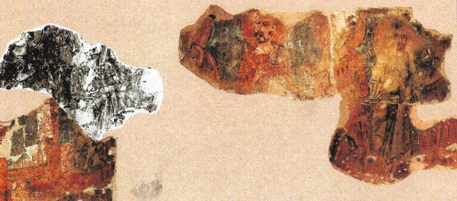 Restes de fresques du Xième et XIIIème siècle dans notre Eglise