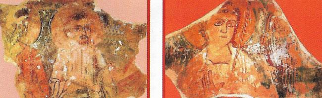 Restes de fresques dans l'Eglise du monastère