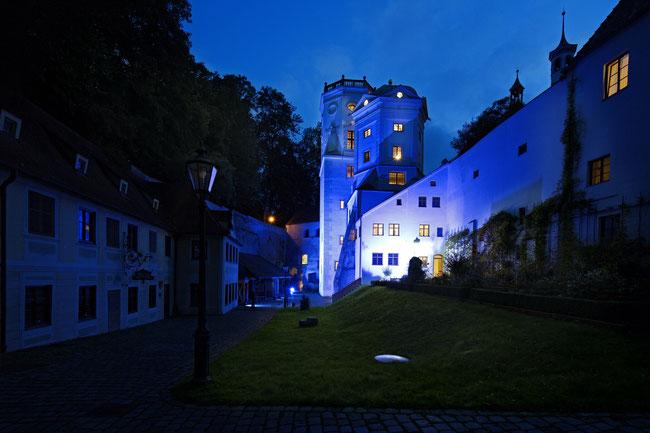 Illumination der Wassertürme Augsburg 06.10.2013 UNESCO-Interessenbekundung - Foto: Norbert Liesz