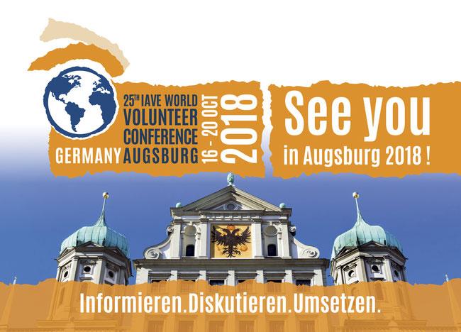 25. IAVE Weltfreiwilligenkonferenz vom 16. bis 20. Oktober 2018 in Augsburg - 25th IAVE World Volunteer Conference 2018