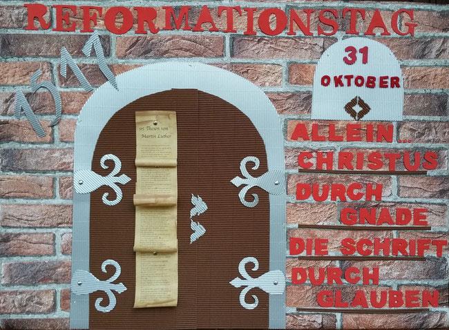 Reformationstag 31. Oktober Martin Luther Tor Ablassbriefe