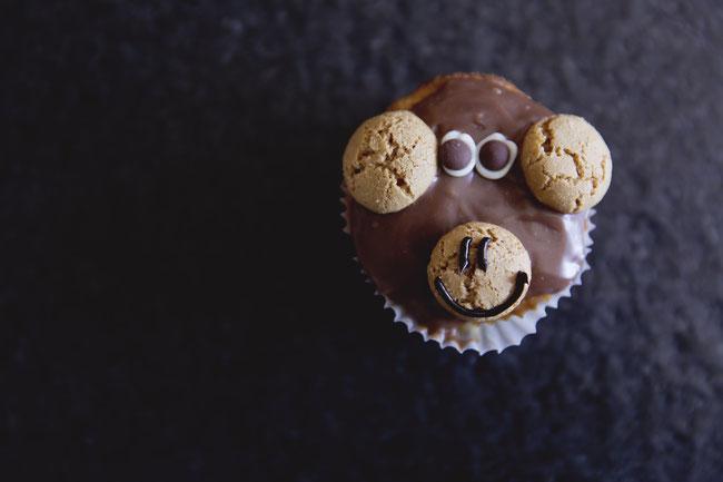 Bananen Muffins als Affen