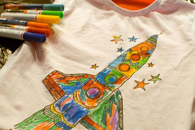 T Shirts Bemalen Kindergeburtstag Planen