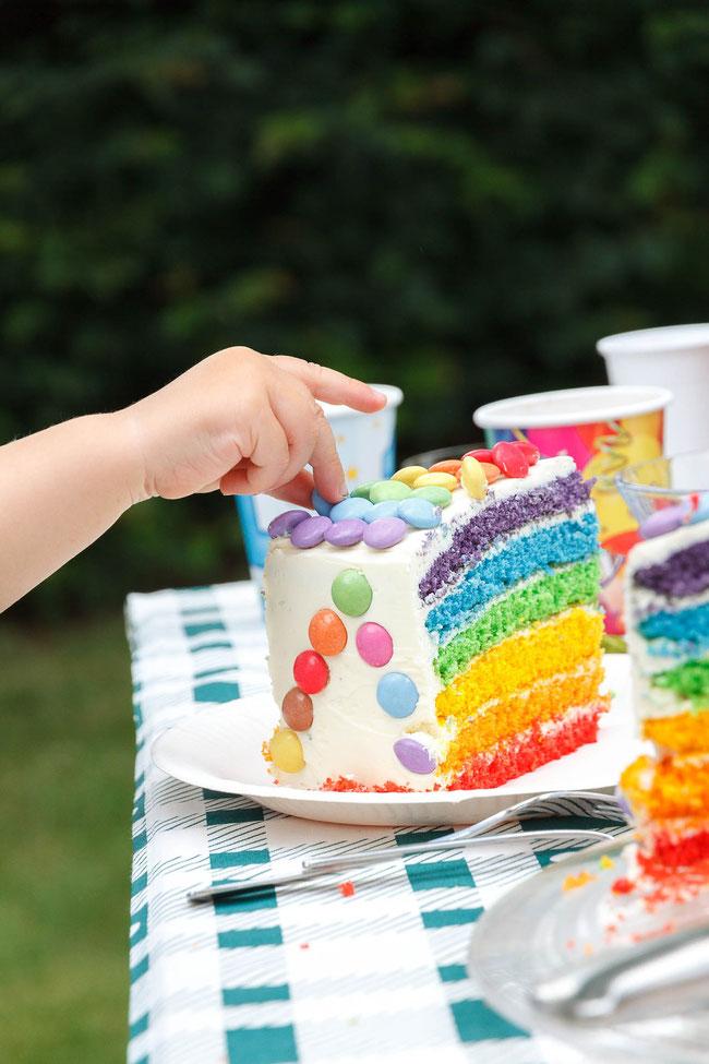 Rezept Regenbogentorte für den Kindergeburtstag