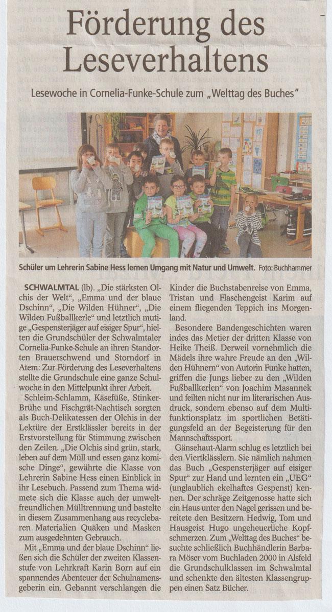 Oberhessische Zeitung Alsfeld vom 25.04.2019