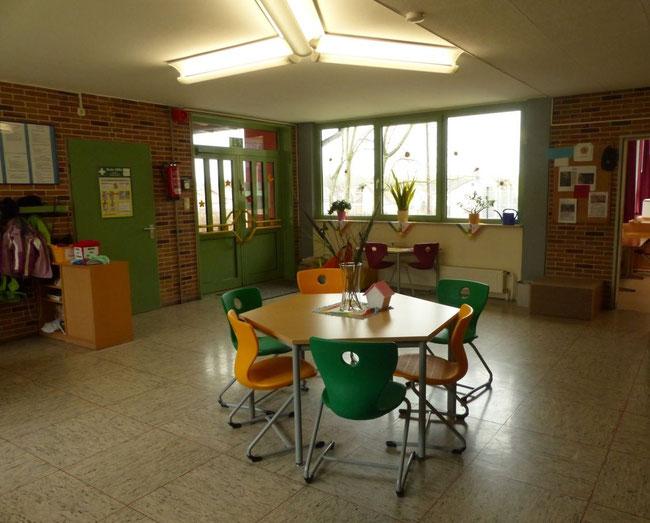 Der Vorraum im Hauptgebäude am Standort Brauerschwend