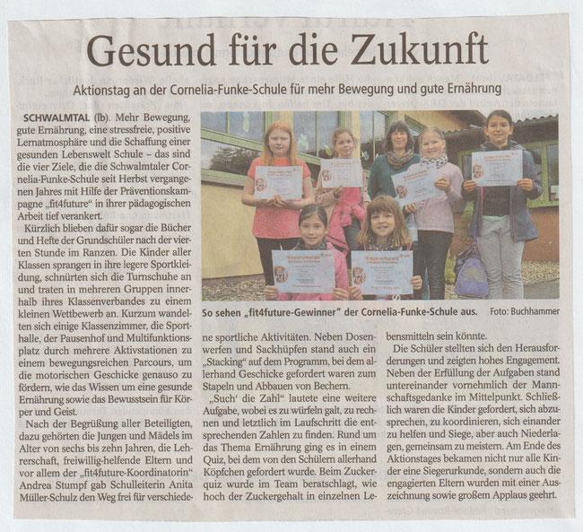 Oberhessische Zeitung Alsfeld vom 22.05.2019