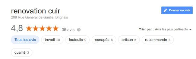 avis google renovation cuir lyon