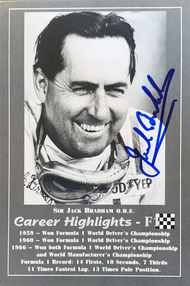 Autograph Jack Brabham Autogramm