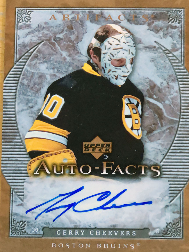 Autograph Gerry Cheevers Autogramm