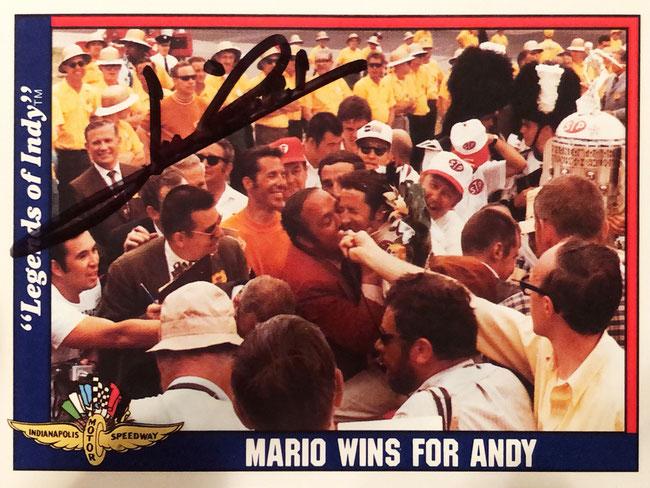 Autograph Mario Andretti Autogramm